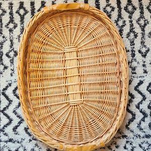 Huge wicker basket tray